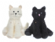 Homecraft Fluffy Cat Doorstop Available in Black or Cream 41272